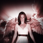 Annie Wersching angel wings fan art by Henrik Berglund